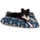 Outdoor Navy Sea Horse Rectangle Pet Bed SM