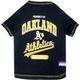 MLB Oakland Athletics Dog Tee Shirt Large