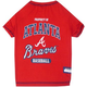 MLB Atanta Braves Dog Tee Shirt X-Small