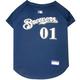 MLB Milwaukee Brewers Dog Jersey X-Small