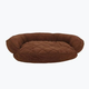 Microfiber Quilted Brown Bolster Dog Bed 48x36x10
