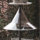 Pole Mounted Bird Feeder Squirrel Baffle-Clear