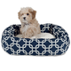 Majestic Pet Navy Links Sherpa Bagel Bed 52 inch