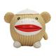 Hugglehounds Ruff Tex Sock Monkey Knottie Dog Toy