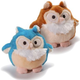 Charming Pet Howling Hoot Dog Toy Beige