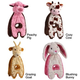 Charming Pet Cuddle Tug Dog Toy Peachy Pig