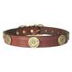 Shot Shell Havana Brown Leather Dog Collar 28 inch