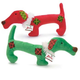 Zanies Plaid Patch Holiday Pup Dog Toy Red
