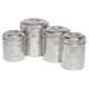 Set of 4 Embossed Pet Canisters