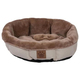 SnooZZy Rustic Elegance Buff Shearling Dog Bed