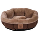 SnooZZy Rustic Elegance Brown Shearling Dog Bed