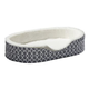 Quiet Time Teflon Gray Ortho Nesting Dog Bed XL