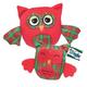Grriggles Radiant Tartan Plush Owl Dog Toy Small