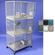 A and E Large Triple Stack Bird Cage Black