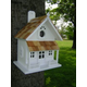 Victorian Cottage Birdhouse White