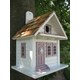 Shotgun Cottage Birdhouse White