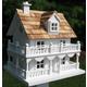 Novelty Cottage Birdhouse White