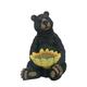 Black Bear Sitting with Sunflower Birdfeeder
