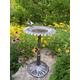 Sunflower Bird Bath Antique Pewter