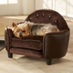 Enchanted Home Pet Plush Brown Headboard Dog Bed