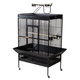 Prevue 3154 Select Signature Parrot Cage Pewter
