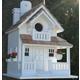 Home Bazaar Backyard Bird Cottage Birdhouse White