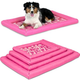 SnooZZy Pink Durable Dog Crate Mat Large