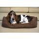 Iconic Pet Luxury Cocoa Swaddlez Pet Bed Large