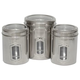 Set of 3 Pet Canisters with See Through Lids
