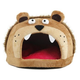 Pet Life Light Brown Bear Snuggle Fleece Pet Bed