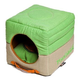 Touchdog Vintage 2in1 Green/Khaki Dog House Bed