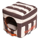Touchdog Striped 2in1 Brown/White Dog House Bed