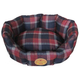 Pet Life Round Red/Blue Plaid Dog Bed LG