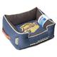 Touchdog Vintage Midnight Blue Bolster Dog Bed LG