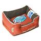 Touchdog Vintage Orange Bolster Dog Bed LG