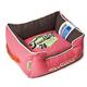 Touchdog Vintage Flamingo Pink Bolster Dog Bed LG
