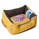 Touchdog Vintage Lemon Yellow Bolster Dog Bed LG