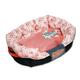 Touchdog Floral Galore Pink Dog Bed LG