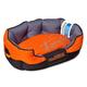 Touchdog Sporty Comfort Orange Dog Bed LG
