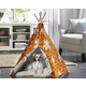 Merry Products Orange Puzzle Pet Teepee Large