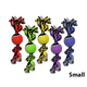 Nuts for Knots Rope with Tennis Ball Dog Toy Small