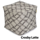 Jax and Bones Crosby Latte Premium Pouf Ottoman