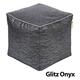 Jax and Bones Glitz Onyx Cotton Pouf Ottoman