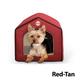 KH Mfg Indoor Red/Tan Pet House