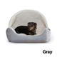 KH Mfg Hooded Lounge Grey Pet Sleeper