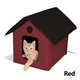 KH Mfg Heated Barn Red Outdoor Kitty House