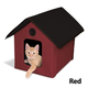 KH Mfg Unheated Barn Red Outdoor Kitty House
