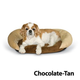 KH Mfg Self-Warming Chocolate Bolster Pet Bed