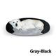 KH Mfg Self-Warming Gray Bolster Pet Bed