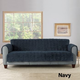 Sure Fit Faux Fur Sofa Slipcover Taupe